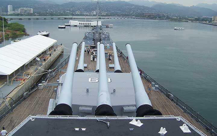 USS Missouri watching over USS Arizona - Pearl Harbor