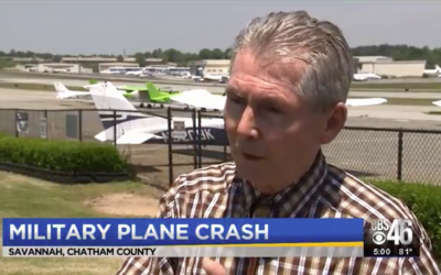 Interview on CBS-46 about C-130 Hercules Military Plane Crash