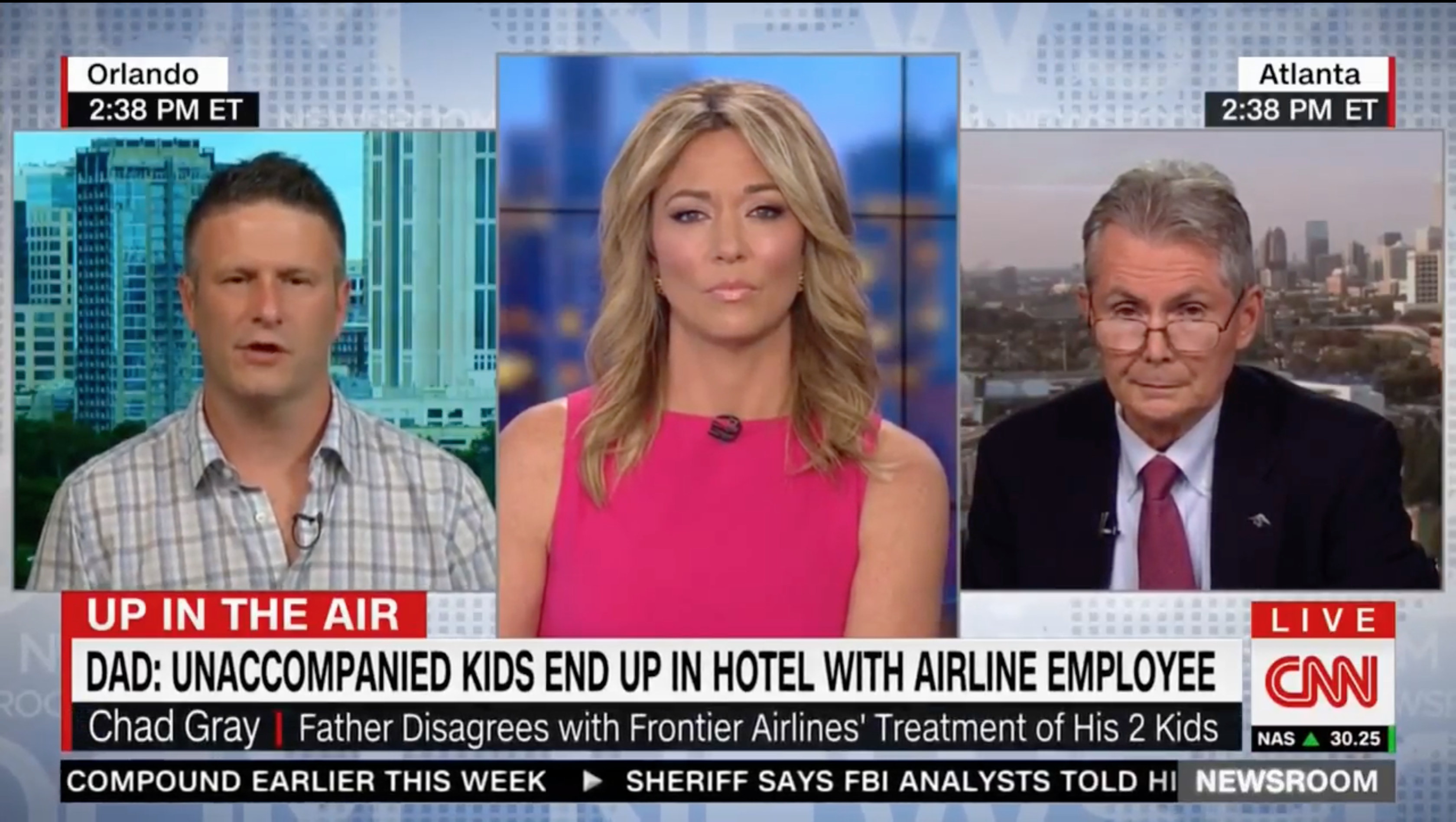 Interview on CNN TV about flight diverted with unaccompanied minors on board