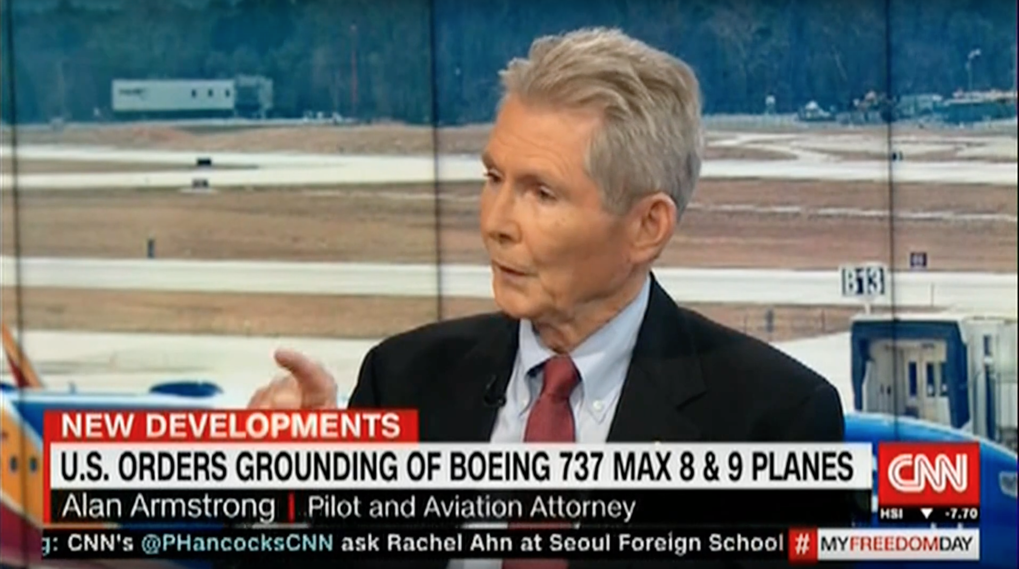 Interview on CNN about recent Boeing 737 max 8 crashes