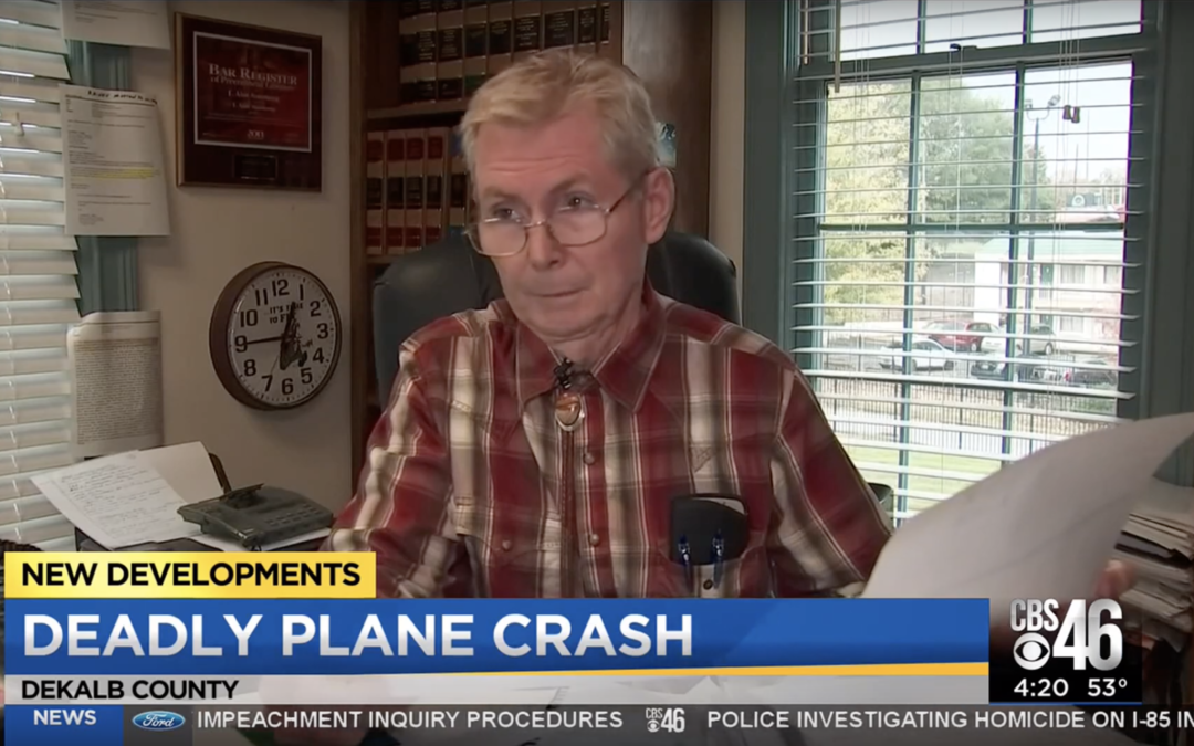 Alan Armstrong on WGCL TV News, Oct. 30, 2019: Deadly Airplane Crash in Dekalb County