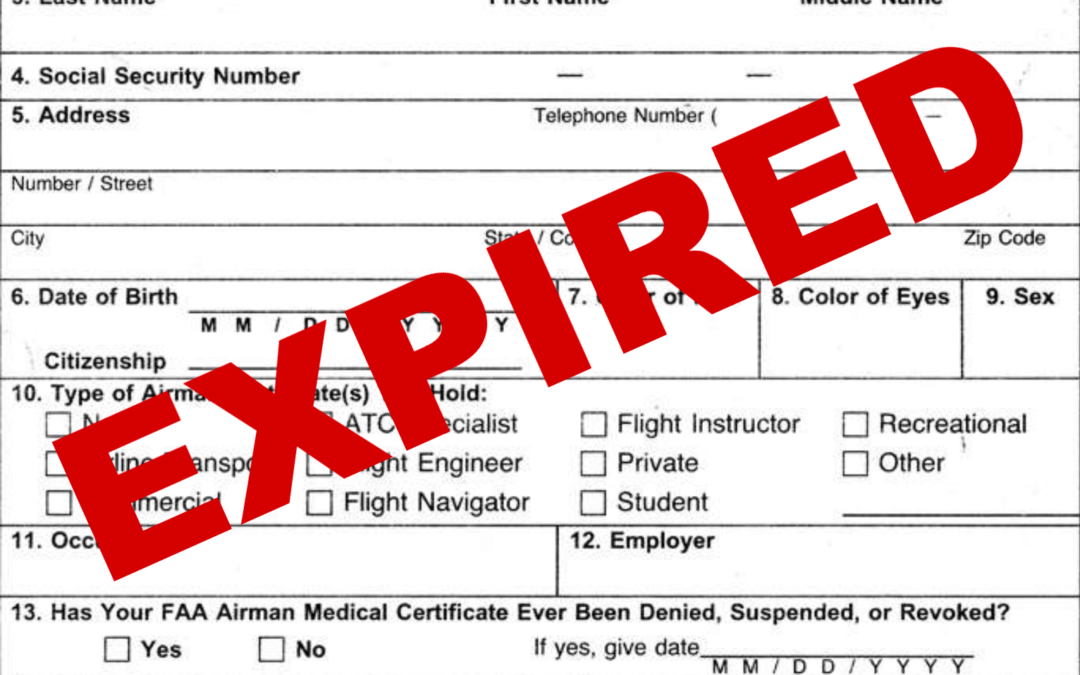FAA Announces New Enforcement Policy for Expired Airmen Medical Certificates