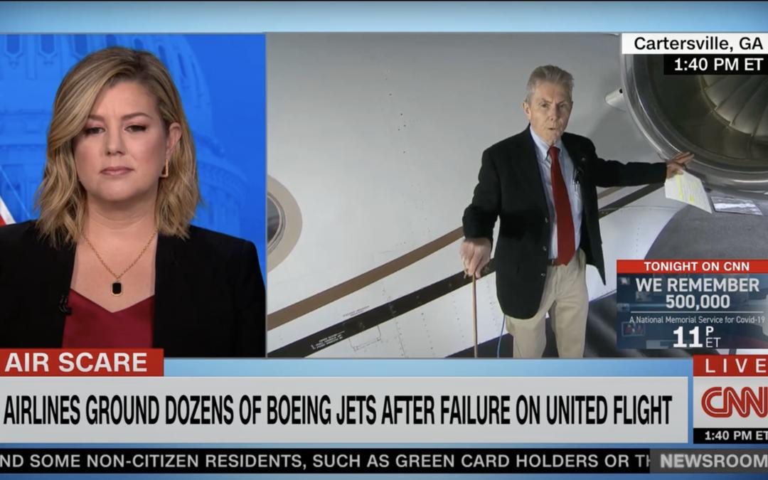 Alan Armstrong on CNN:  United Flight 328 catastrophic engine failure